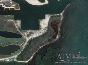 Aerial property view and mangrove buffer