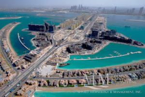 Aerial view of both sides of Anchor Marina