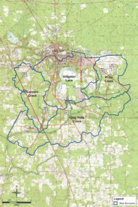 Basin Boundary map with lines