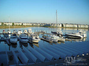 Bay Bridge- shot of marina