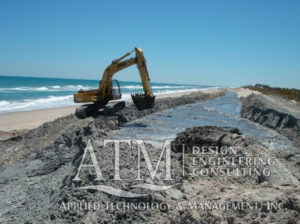 Dredging with backhoe