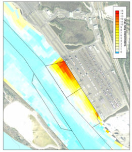 TraPac Container Terminal Sedimentation Reduction Dredging aerial