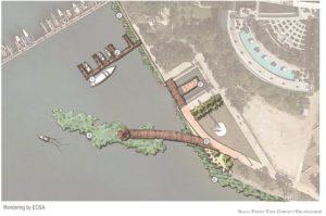Miami Blueways Master Plan renderings overhead