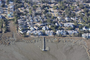 Simmons Pointe Trip Wall Design and FEMA Map Revision aerial
