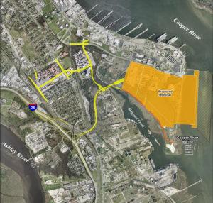 Charleston Naval Base Terminal aerial