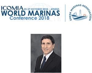 Esteban L. Biondi speaking at the ICOMIA World Marinas conference 2018