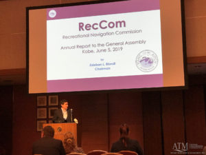 Esteban L. Biondi speaking at the Recreational Navigation Commission Annual Report