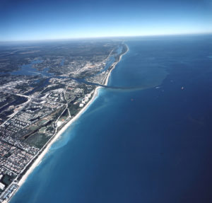 Overhead shot of Jupiter Island