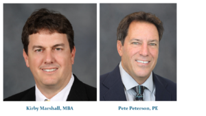 Headshots of Kirby Marshall, MBA and Pete Peterson, PE