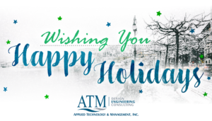 Happy Holidays card from Applied Technology & Management, Inc.