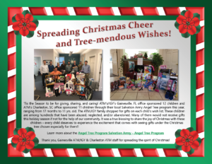 Applied Technology & Management participating in the Salvation Army Angel Tree Program