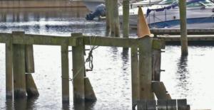 Before Photo of Sanford Municipal Marina Seawall Project