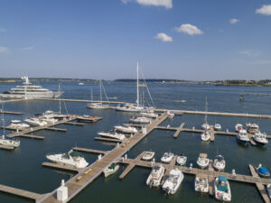 End Result photos of Applied Technology & Management's work on Fore Points Marina in Portland, ME